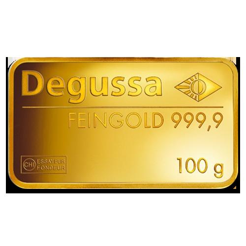 100g Gold Bullion Degussa Gold Bar