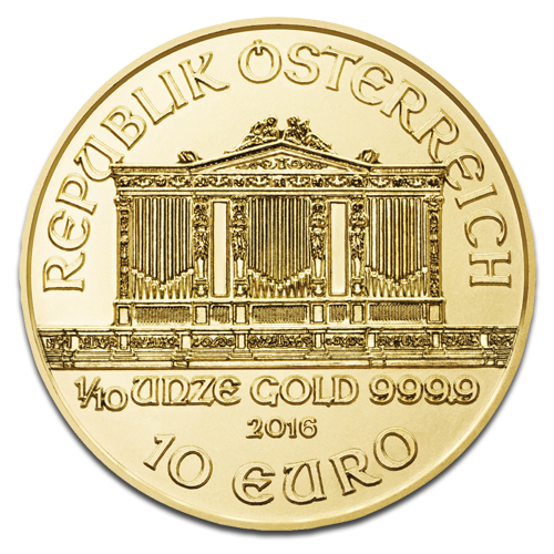 1/10 Ounce Austrian Philharmonic Gold Coin