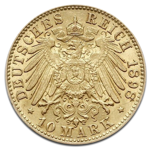10 Mark Gold Hamburg 1873 1913
