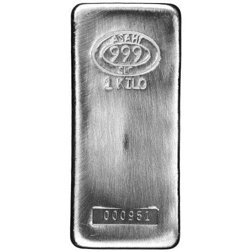 1 Oz Johnson Matthey Silver Bar 999 Fine