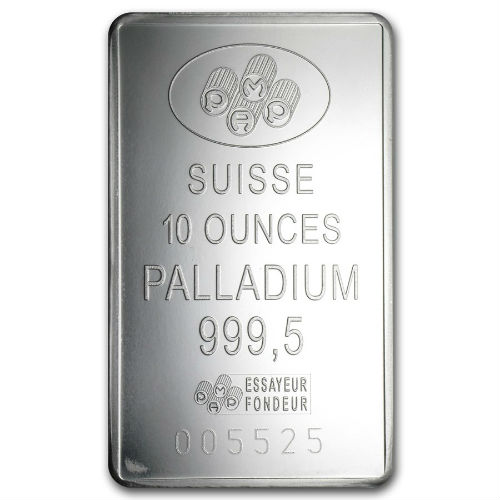 10 Ounce Pamp Fortuna Palladium Bar