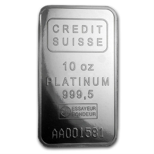 Credit Suisse 10 Ounce Platinum Bar