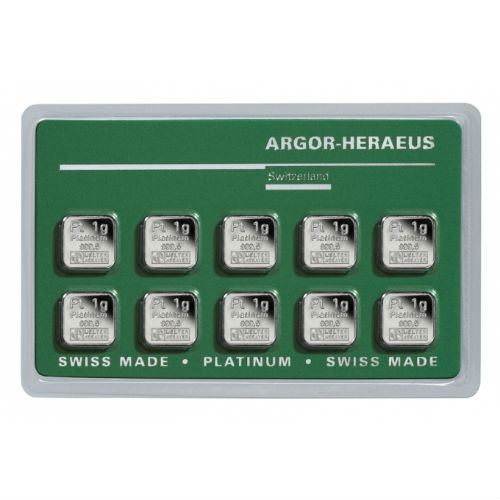 10 Gram Argor Heraeus Multigram Platinum Bar