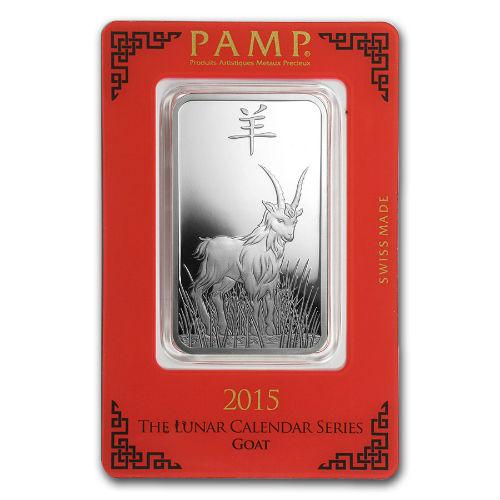 1 Ounce Pamp Silver Lunar Goat Bar