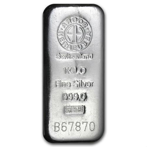 1 Kilogram Argor Heraeus Silver Bullion Bar