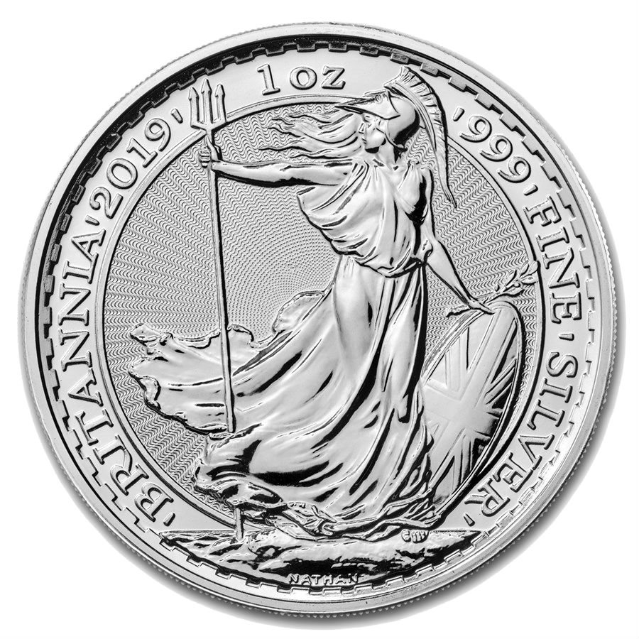 1 Ounce 2019 Silver British Britannia Coin