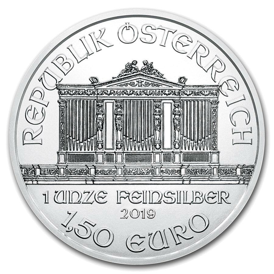 1 Ounce 2019 Silver Austrian Philharmonic Coin
