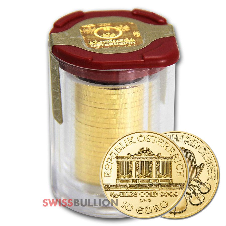 1 10 Ounce 2019 Austrian Philharmonic Gold Coin